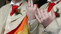 Gay couples celebrate marriage vows after US court lifts marriage ban