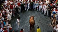 Two hurt in Pamplona bull run
