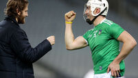 Aaron Gillane celebrates after the game with Seamus Flanagan 29/11/2020