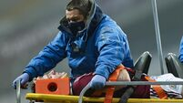 Joe Canning leaves the field due to an injury 29/11/2020