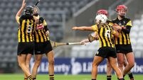 Kilkenny players celebrate at the final whistle 28/11/2020