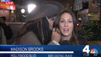 Captain Jack Sparrow interrupts a news broadcast