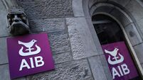 FILE PHOTO: Signage and logo are seen on an AIB bank building in Galway