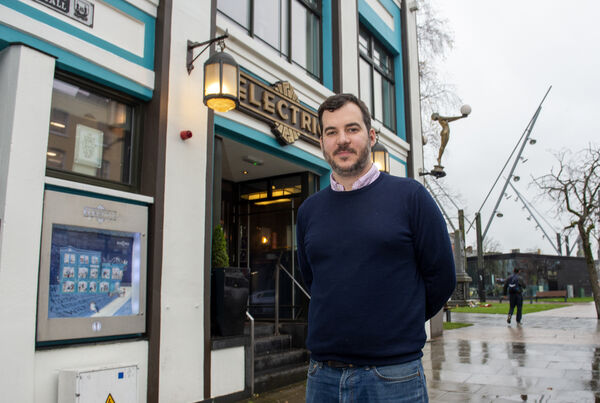 Publican Ernest Cantillon outside Electric Bar and Restaurant on the South Mall, Cork. Picture: Dan Linehan