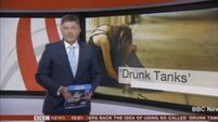 BBC presenter mistakes stack of copy paper for iPad - live on air