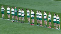 Tipperary players stand for the National Anthem 22/11/2020