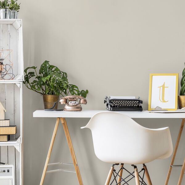 Colourtrend's Kittiwake is a neutral which could provide a bright but warm look for a home office.