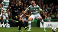 Heartbreak for Celtic as Brown sees red