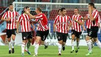 Derry keep second leg hopes up with two away goals