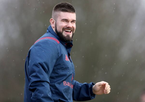 Duncan Casey, training with Munster in 2018. Picture: INPHO/Dan Sheirdan