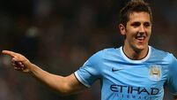 Jovetic on the double for City