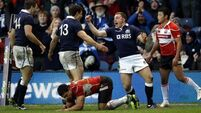 Japan left behind by Scotland in second half