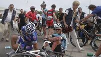 Finishing line chaos causes carnage at Tour de France