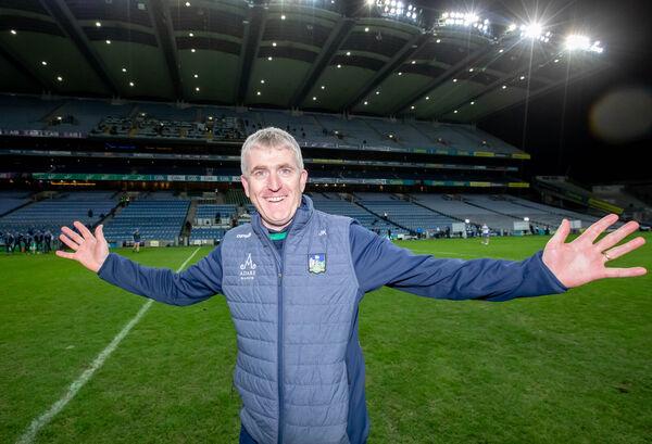 Limerick manager John Kiely celebrates winning last month's All-Ireland hurling final. Picture:INPHO/Morgan Treacy