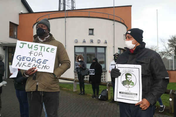 Protesters are calling for justice. Picture: Niall Carson/PA       Wire