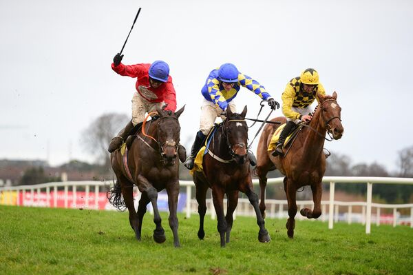RARE TREAT: The Savills Chase won by A Plus Tard, left, was a rare example of a big-field runner Grade One this side of Cheltenham.