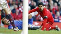 Suarez 'bite' overshadows late show from the Reds