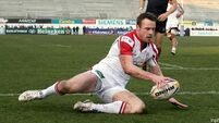 Ulster again atop table after rousing win over Dragons