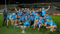 The Dublin team celebrate with the Sam Maguire Cup as All-Ireland Champions for the sixth year in a row 19/12/2020