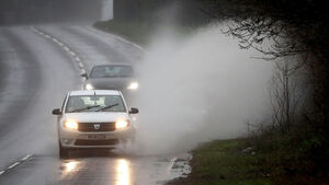 24-hour status yellow rainfall warning and chance of flooding for 11 counties