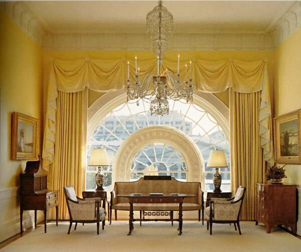 The East Sitting Hall in the family residence during the Bush era. Picture: White House Museum