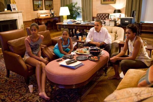 The Obamas in the Treaty room. Picture: White House Museum