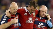 Warburton out for up to four months