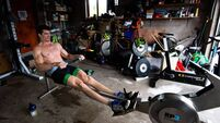 Irish Olympic rower Philip Doyle training in isolation