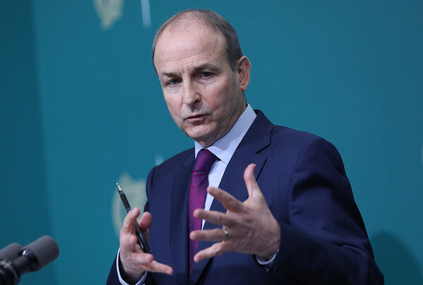 Taoiseach Micheal Martin addressing the nation some weeks ago at Government Buildings, Dublin, where he announced Ireland will face Level 5 coronavirus restrictions for at least a month.