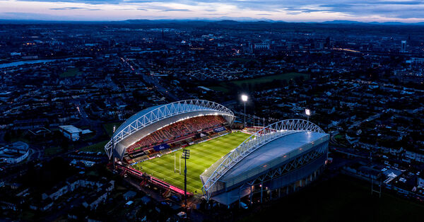 A view of Thomond Park ahead of the game. Picture: INPHO/James Crombie