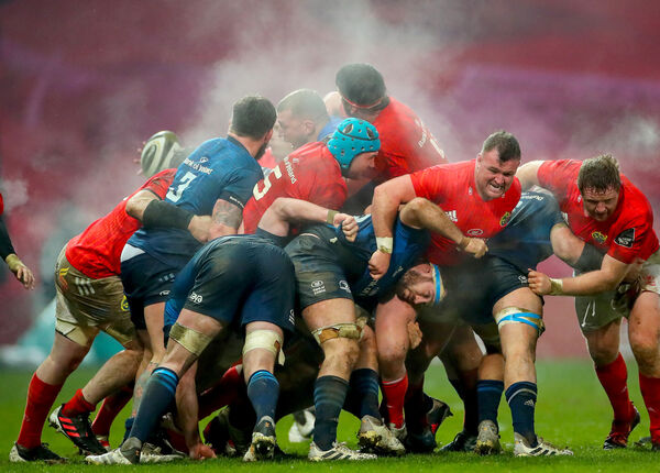 Stream rises from a maul at Thomond Park. Picture: INPHO/James Crombie