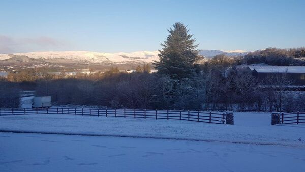 Snow in Barnesmore, Donegal this morning. Picture: Maria McCauley.