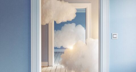 clouds in the room.