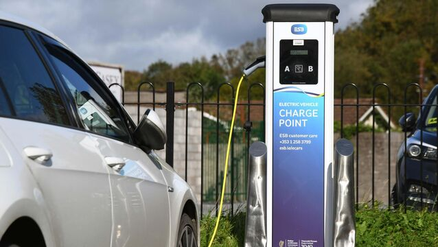 <p> An electric vehicle charging point in Carrigaline, Cork. Just as the pandemic has exposed utterly inadequate broadband capability, the paucity of charging points is delaying conversion to electric.</p>