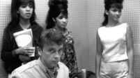 "Vocal trio ""The Ronettes"" with Phil Spector"