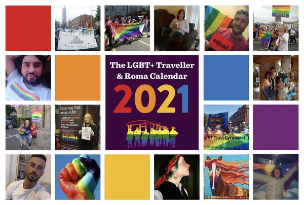 The National LGBT+ Traveller and Roma Action Group calendar 2021.