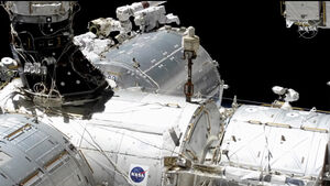Astronauts complete spacewalk to install broadband hub on ISS
