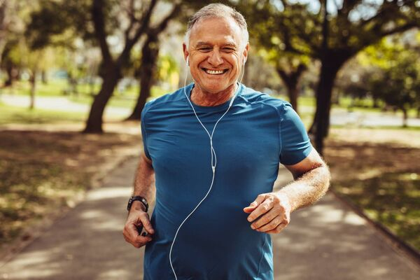 When running in your 60s remember to take additional care of your knees.