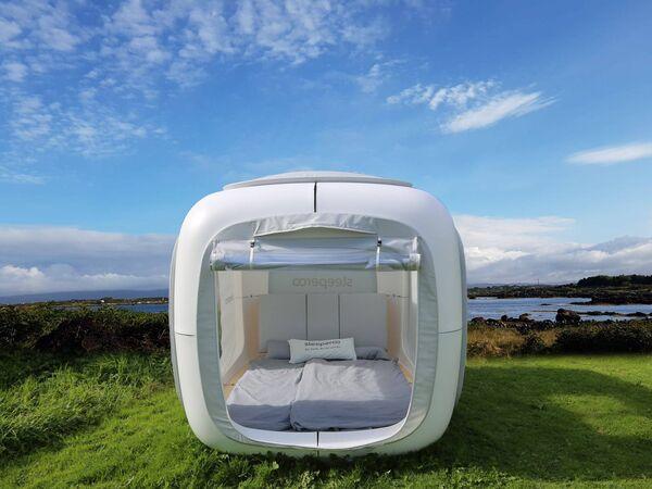 Sleep out under the stars in a Sleeperoo bosca, out in the Connemara Gaeltacht