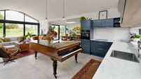 Piano kitchen island that had a nation singing different tunes