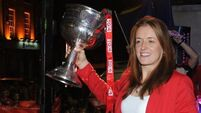 Cork's All-Ireland winning Ladies Footballers back on Leeside