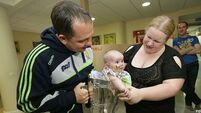 Triumphant Clare hurlers visit Children's Hospital with trophy
