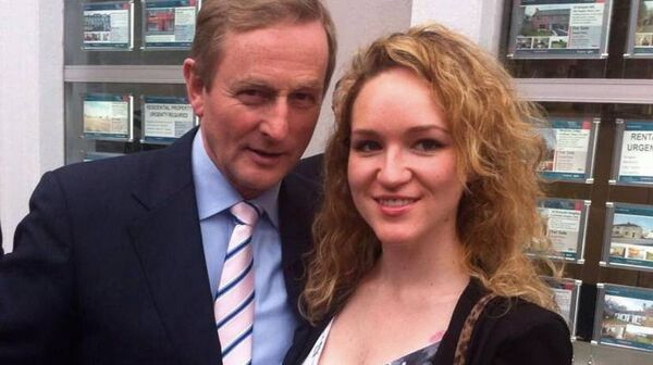 Lyndsey Clarke with former Taoiseach Enda Kenny in 2014.         Photo via Facebook