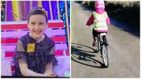 Late Late Toy Show star Saoírse learns to cycle her bike again