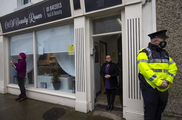 Gardai arrived at the premises earlier today.