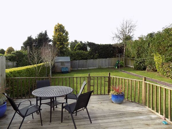 The decking area, perfect for barbecues.