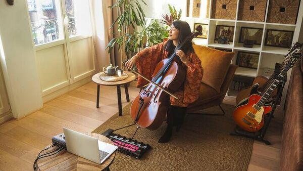 Take a guided meditation with a live cello player.