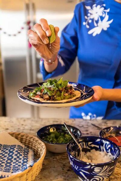 Make tacos with a professional Mexican chef.