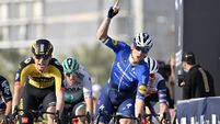 Sam Bennett opens 2021 account with 50th career win at UAE Tour