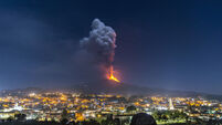 Italy Etna Volcano Eruption